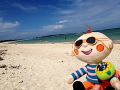 久米島のイーフビーチで