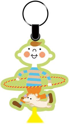 ほぺたんキーリングのイメージ