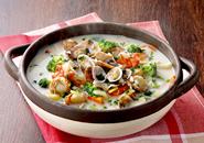 海鮮クラムチャウダー鍋のレシピへ