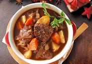牛肉の赤ワイン煮込みのレシピへ