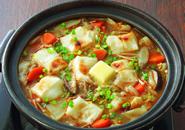 ピリ辛餅鍋のレシピへ