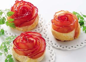 簡単!バラのアップルパイのレシピへ