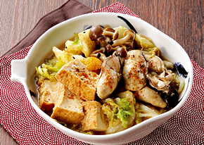 牡蠣と厚揚げの味噌煮のレシピへ